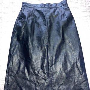Black Leather Pencil Skit